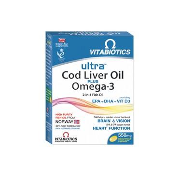 Ultra Cod Liver Oil Plus Omega-3 caps. N60