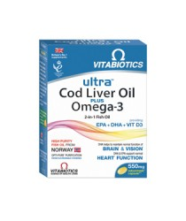 Ultra Cod Liver Oil Plus Omega-3 caps. N60